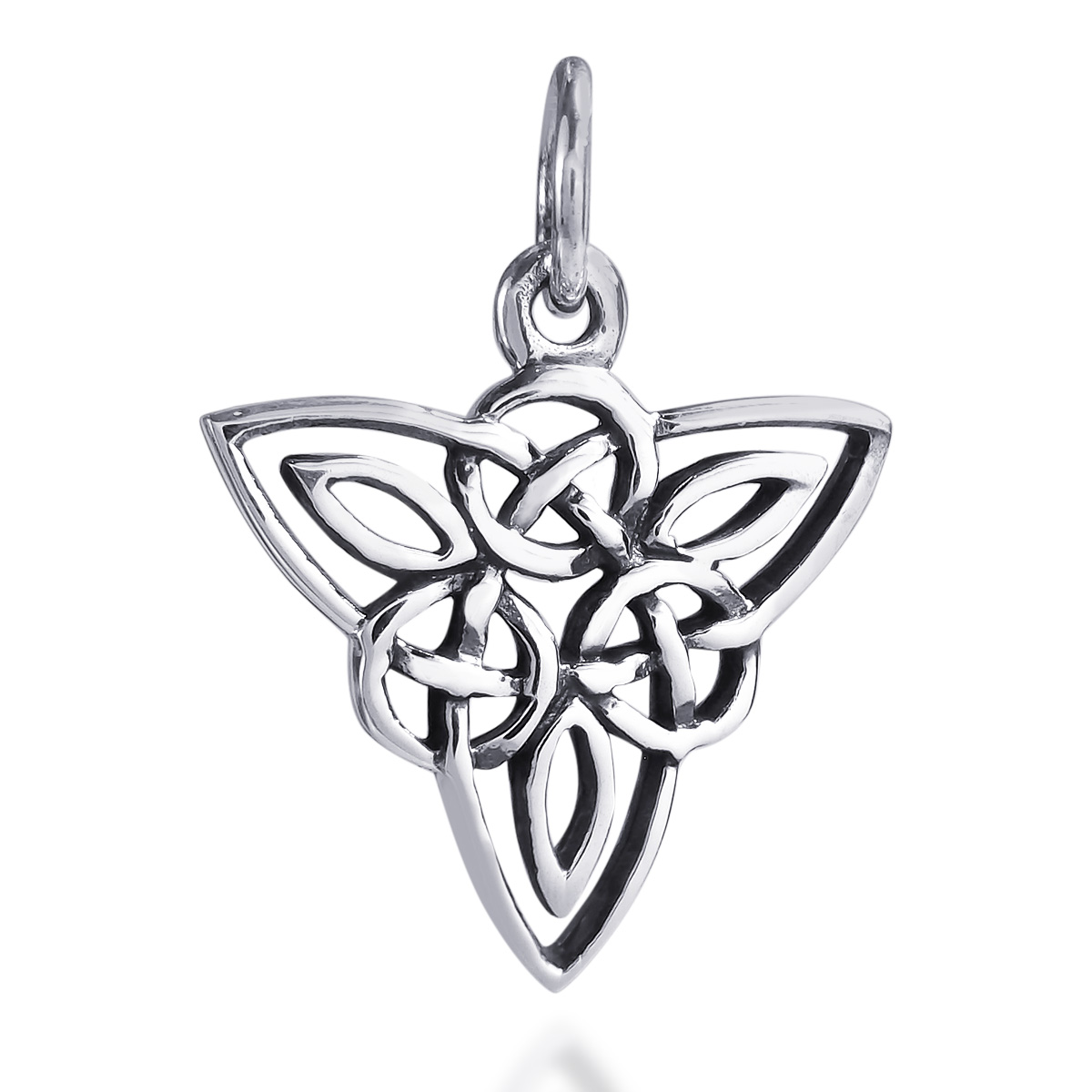 Celtic triquetra knot sterling silver pendant or charm aeravida celtic triquetra knot sterling silver pendant or charm pendants plain celtic triquetra knot sterling silver pendant or charm aloadofball Image collections