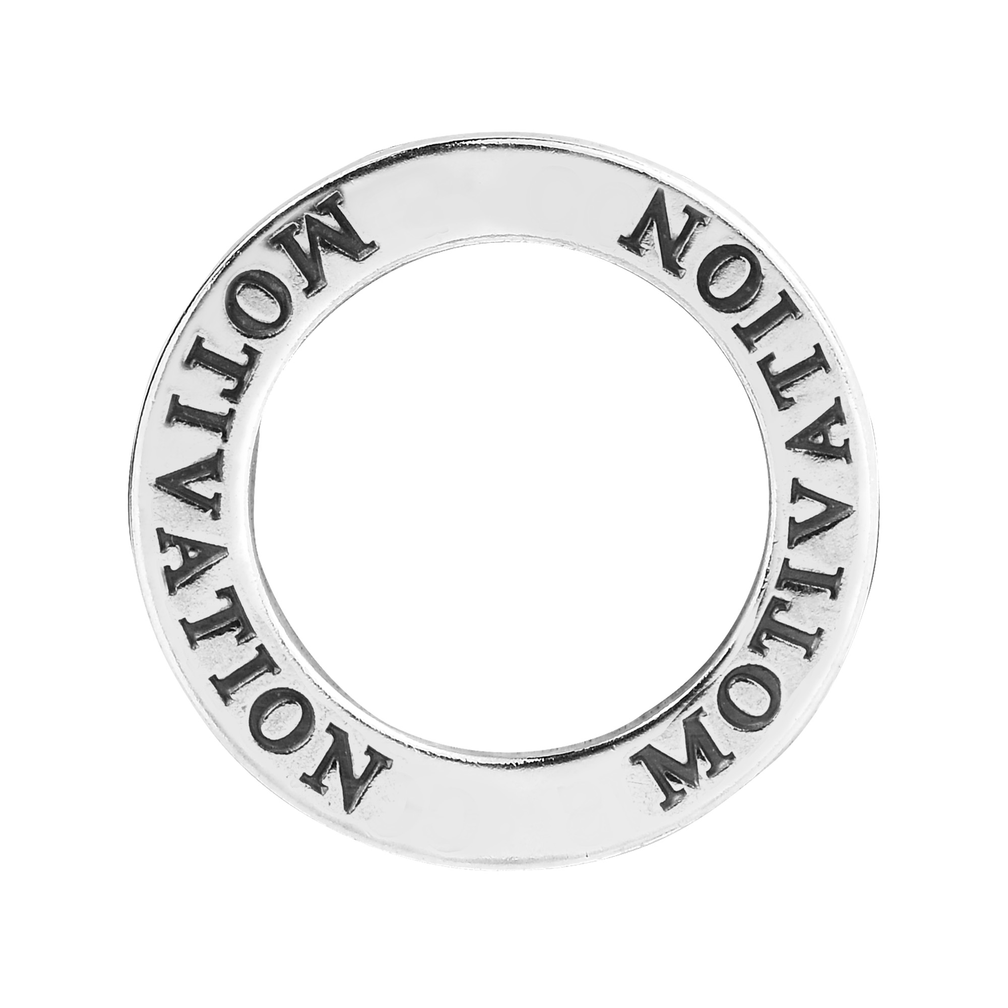 Inspirational word motivation on sterling silver circle pendant these inspirational pendants feature a single word that can carry a powerful message made from sterling silver these pendants can provide a daily aloadofball Image collections