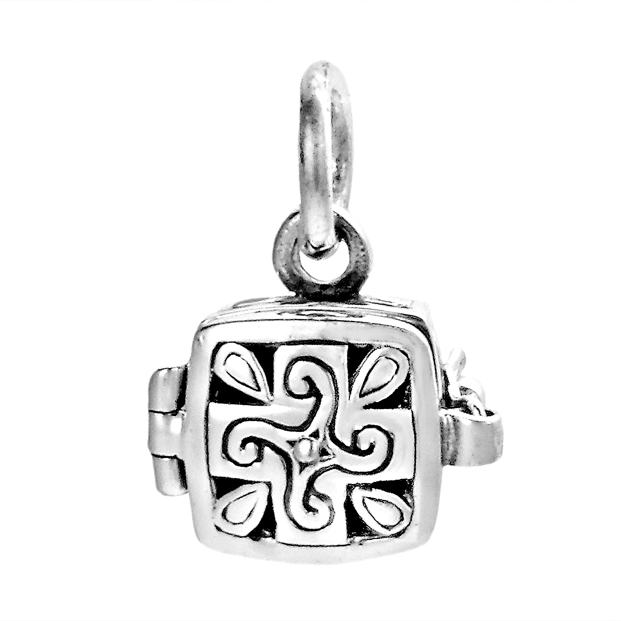 silver square stainless inches x rhinestones pin memory locket steel lockets with