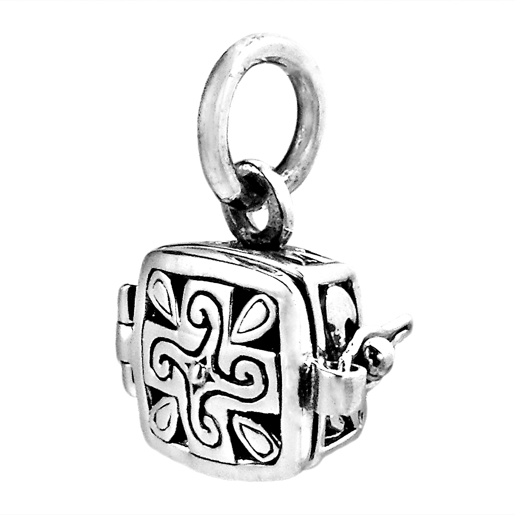 legato flower products locket sandalwood perfume square back lockets