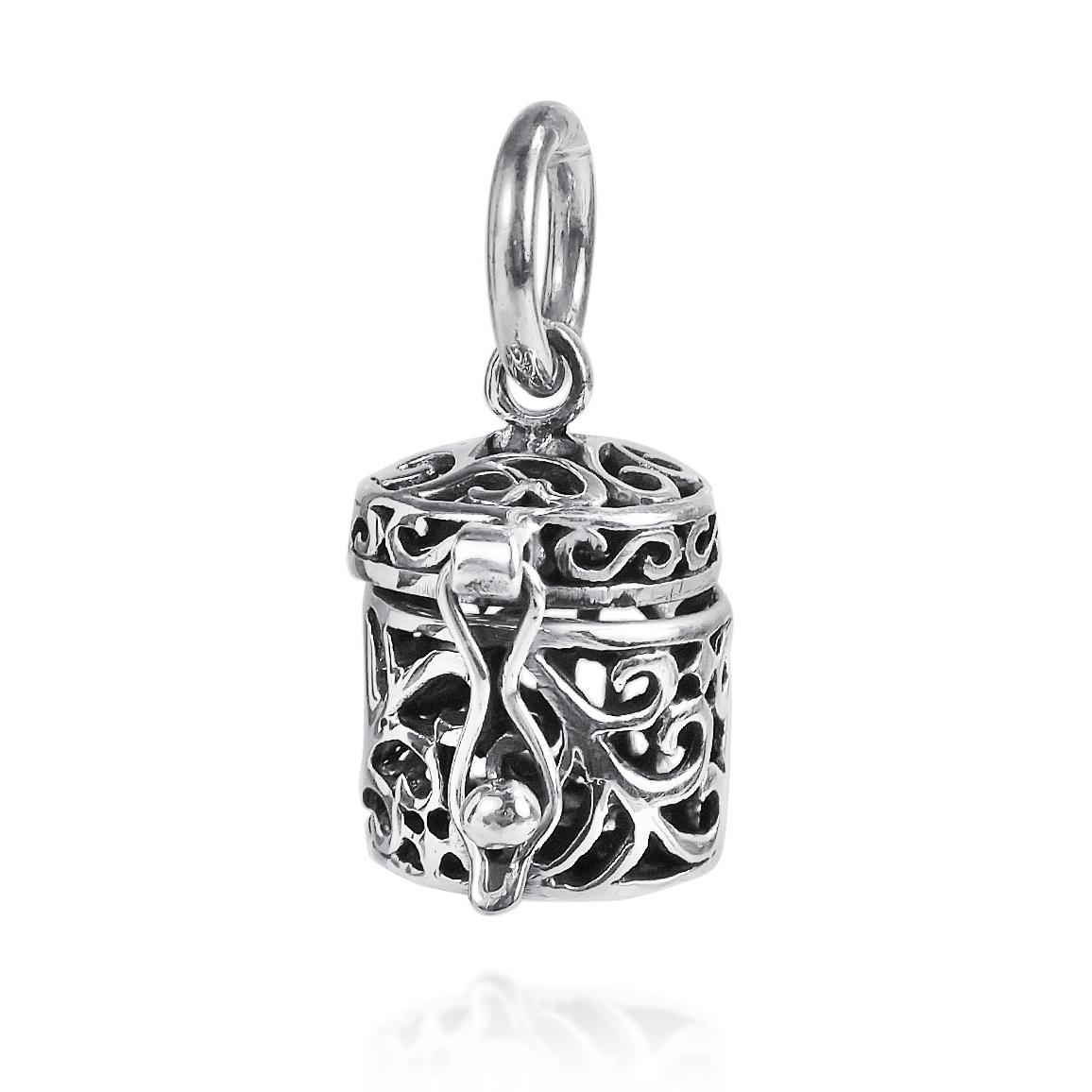 See through filigree ornate prayer box925 silver pendant or charm product product product product product product this sterling silver prayer box pendant aloadofball Gallery