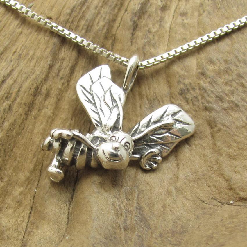 bumble bee 925 silver pendant charm ebay