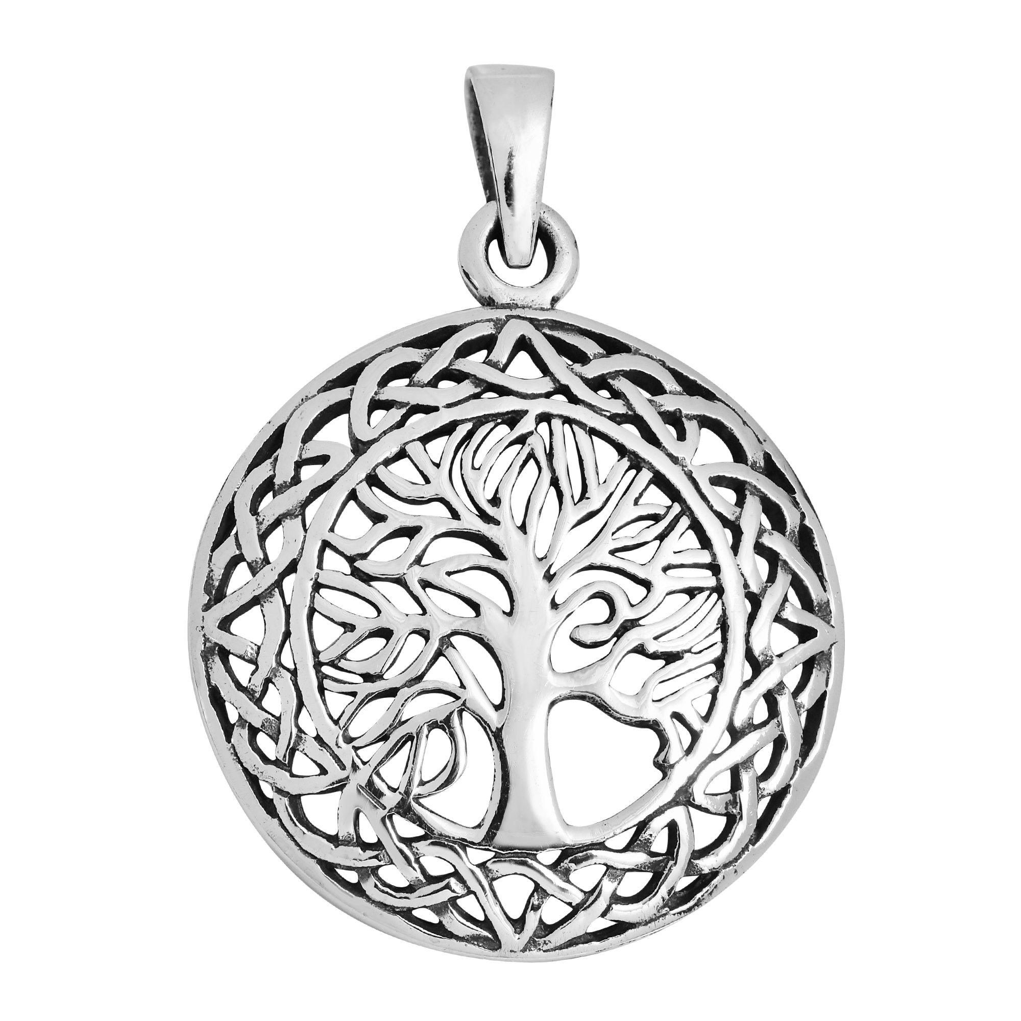 Mystic celtic frame tree of life sterling silver pendant aeravida the tree of life design is safely enclosed with the never ending paths of celtic knots crafted with sterling silver the tree of life symbolizes as the aloadofball Gallery