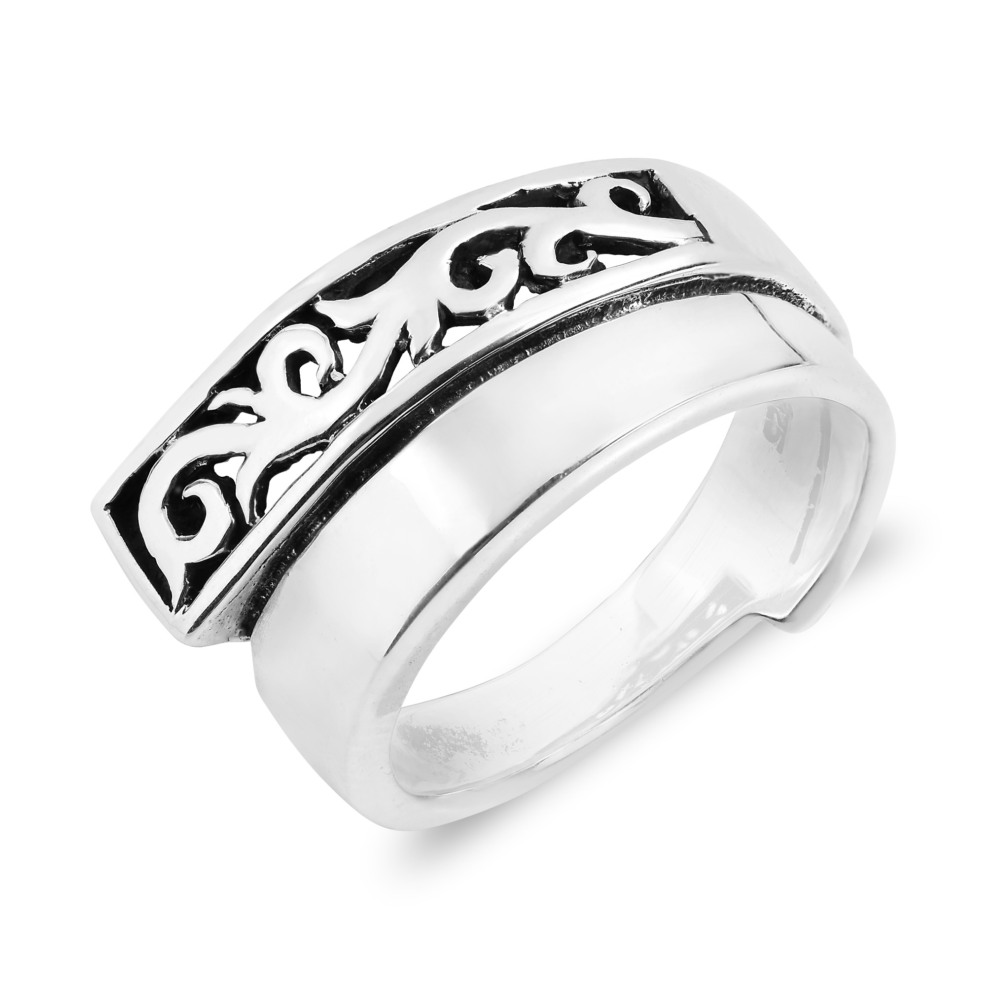 bands ring onewaystyle band plain left from layer filigree