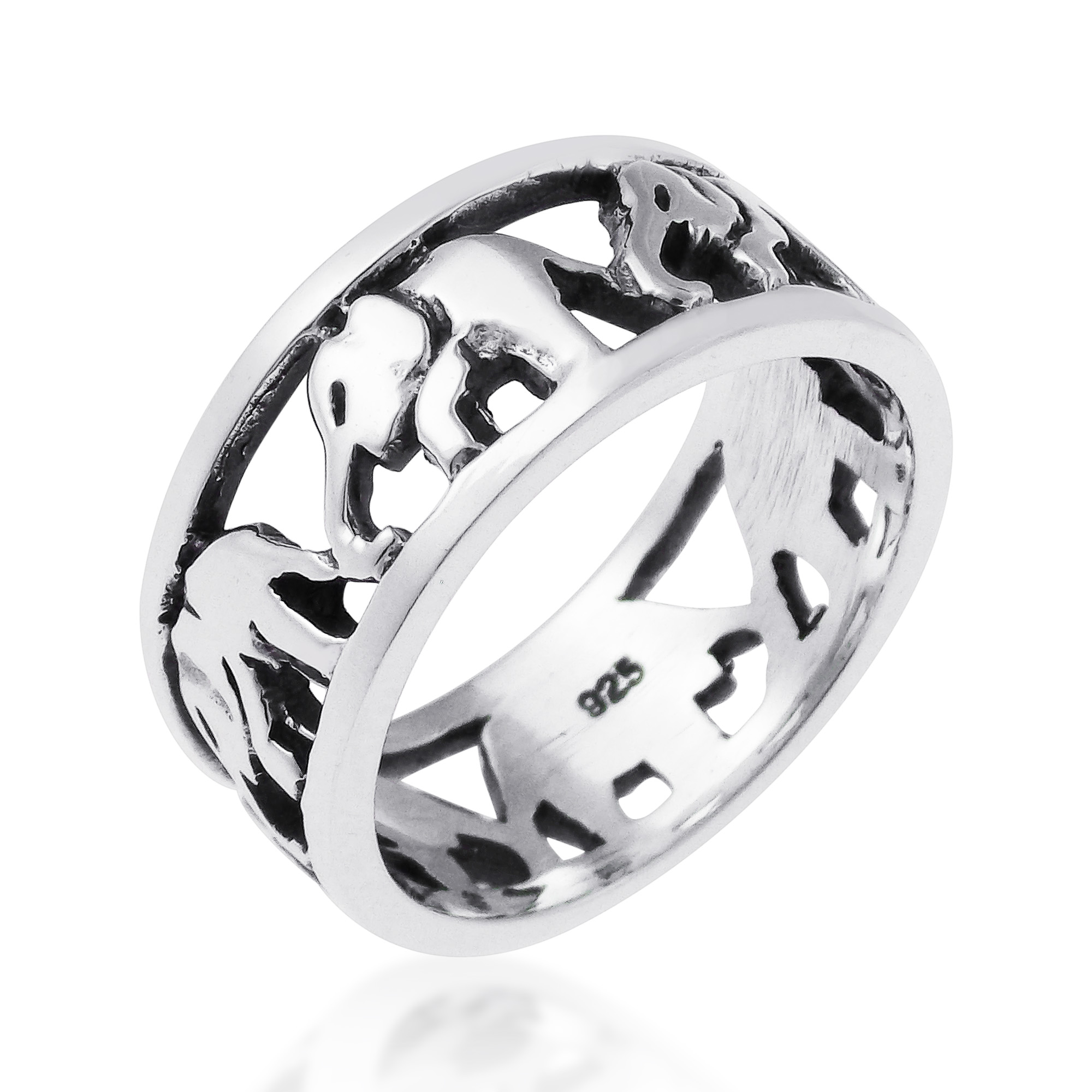 sterling silver gms inspired band ring wt spinner engagement elephant designer launch rings tjc