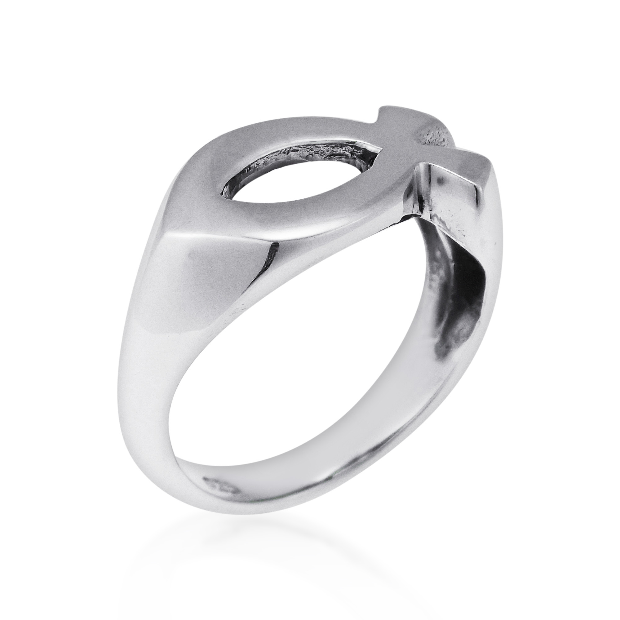 gorgeous christian fish 925 silver ring 6 aeravida