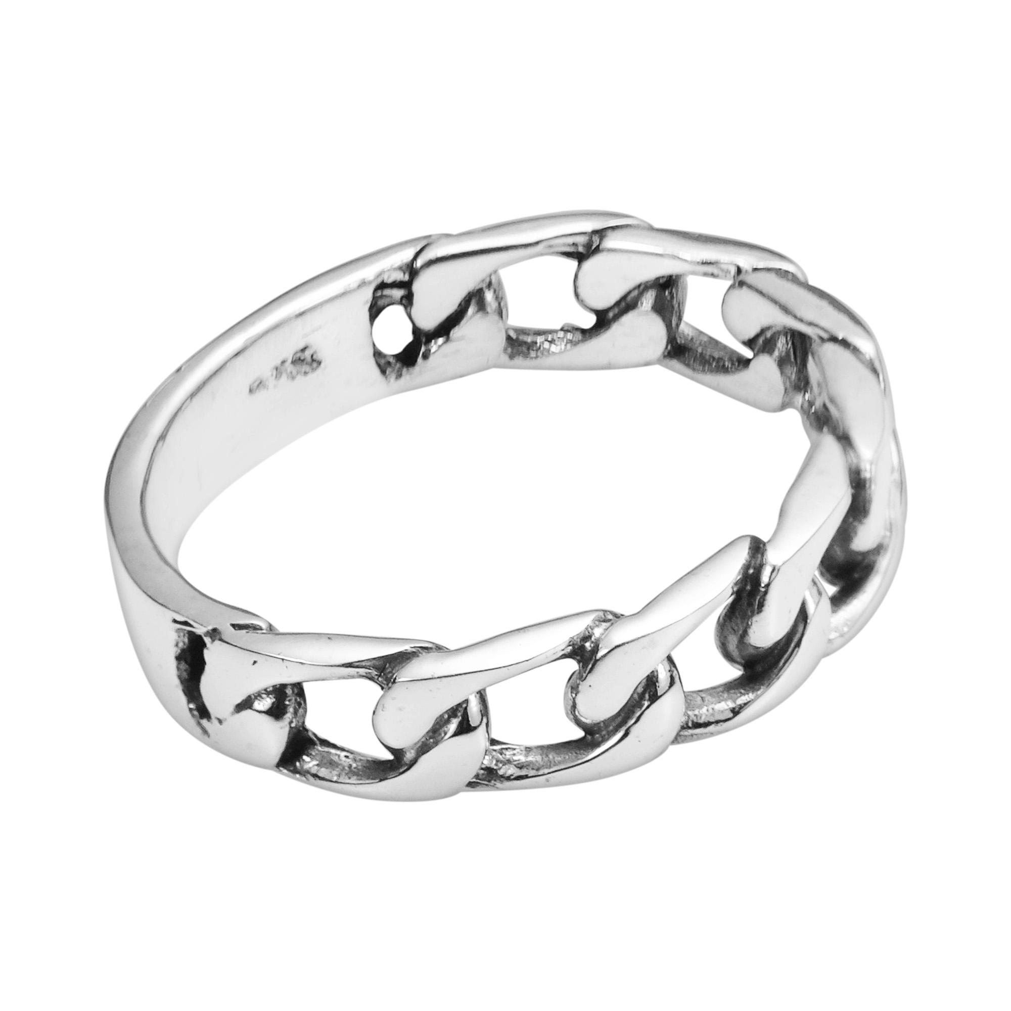 forever bind chain link 925 sterling silver ring 6 aeravida