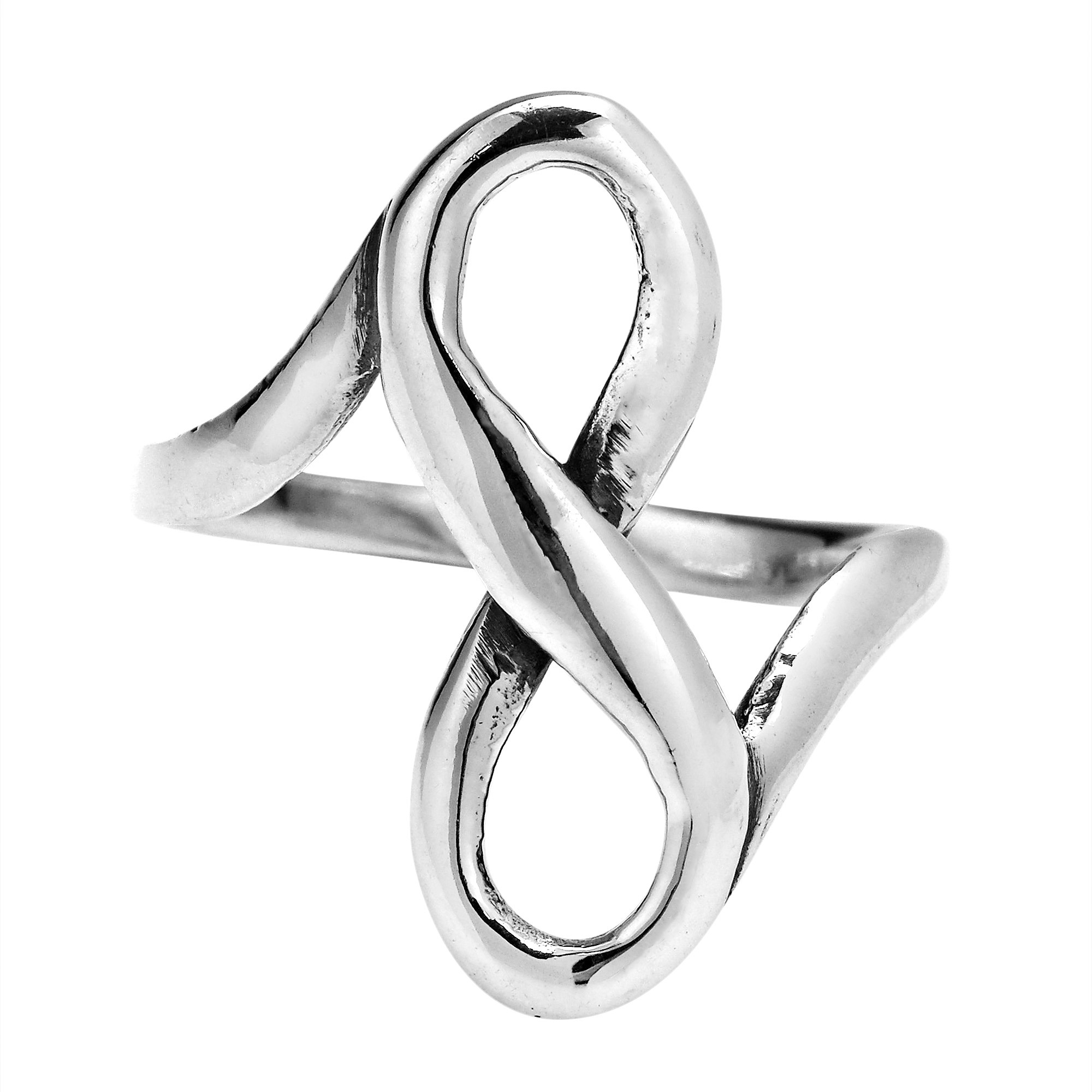 Interlace infinity beloved forever 925 sterling silver ring 6 artisan katsaya crafted sterling silver to form the symbolic ring the features the infinity symbol as the focal point the timeless elegance of the buycottarizona Choice Image