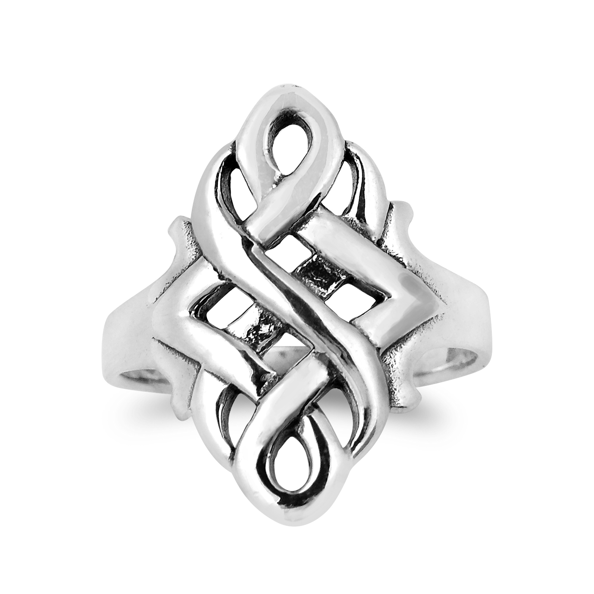 ring endless argento silver rings love couple