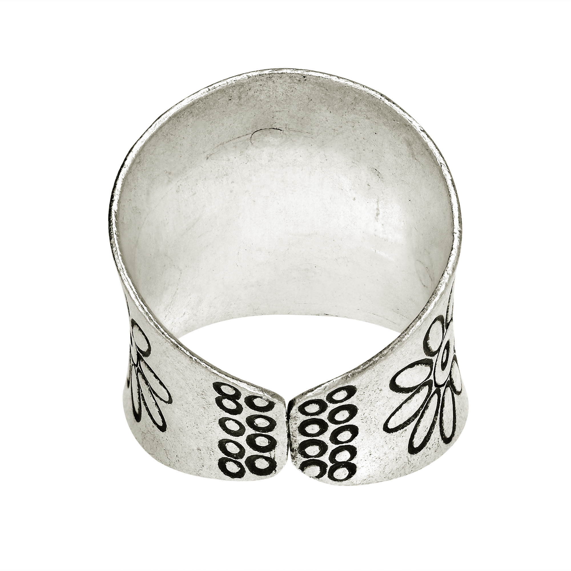 brush crafted products aeravida thailand ocean the tranquil artsy ring in rings her details kai plain wave patterns local artisan pr northern captivating satin like sb sterling waves workshop features oxidized this silver design