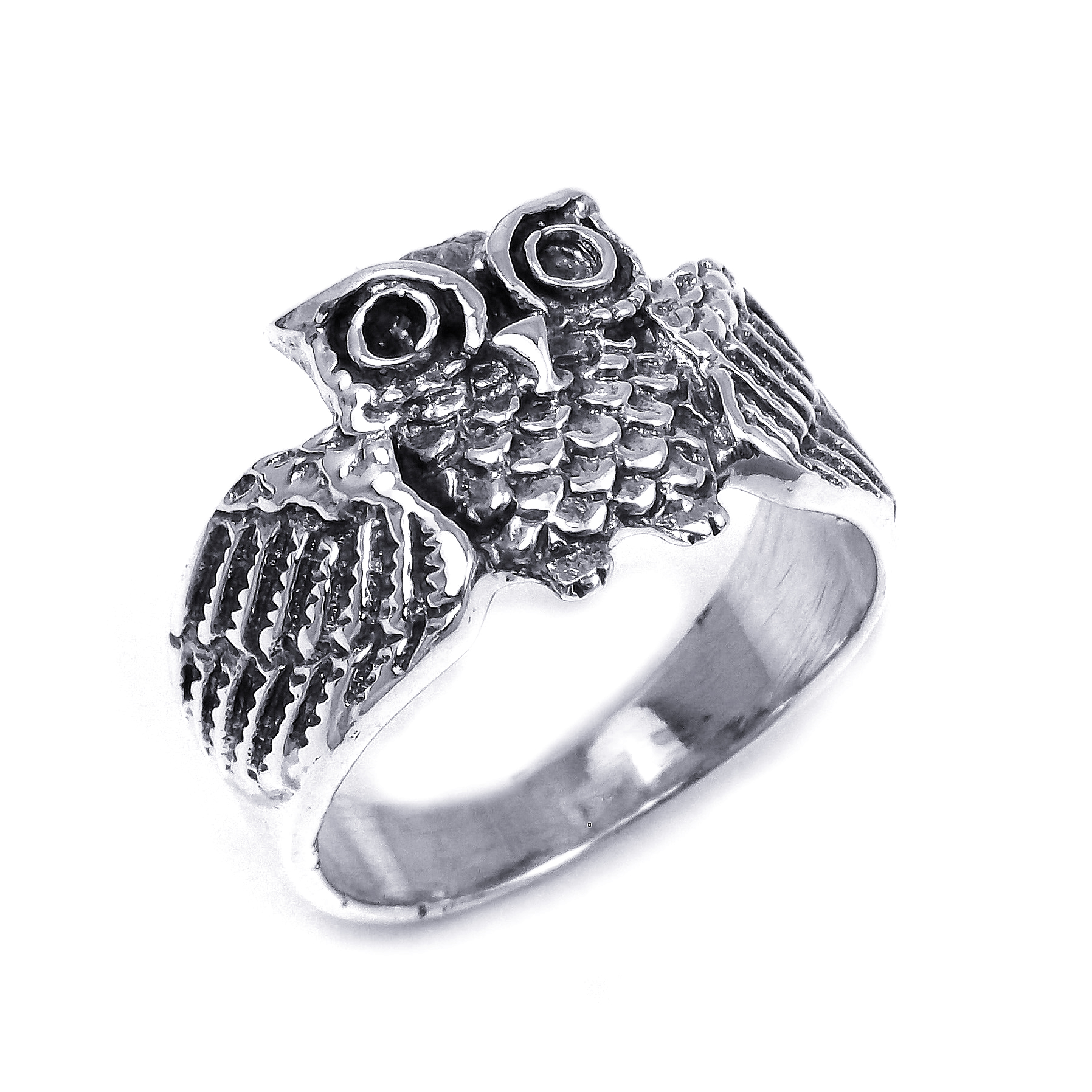 A Wide Awake Owl Center This Design From Thailand Crafted With Sterling  Silver, This Ring Is The Perfect Addition To Your Fashionable Style