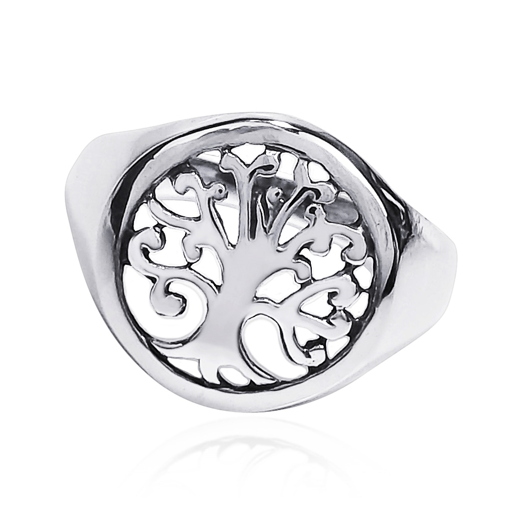 Tree of life sacred symbol 925 sterling silver ring 6 aeravida the tree of life represents a bond between heaven and earth and the intertwining branches represent the connectivity of all things biocorpaavc