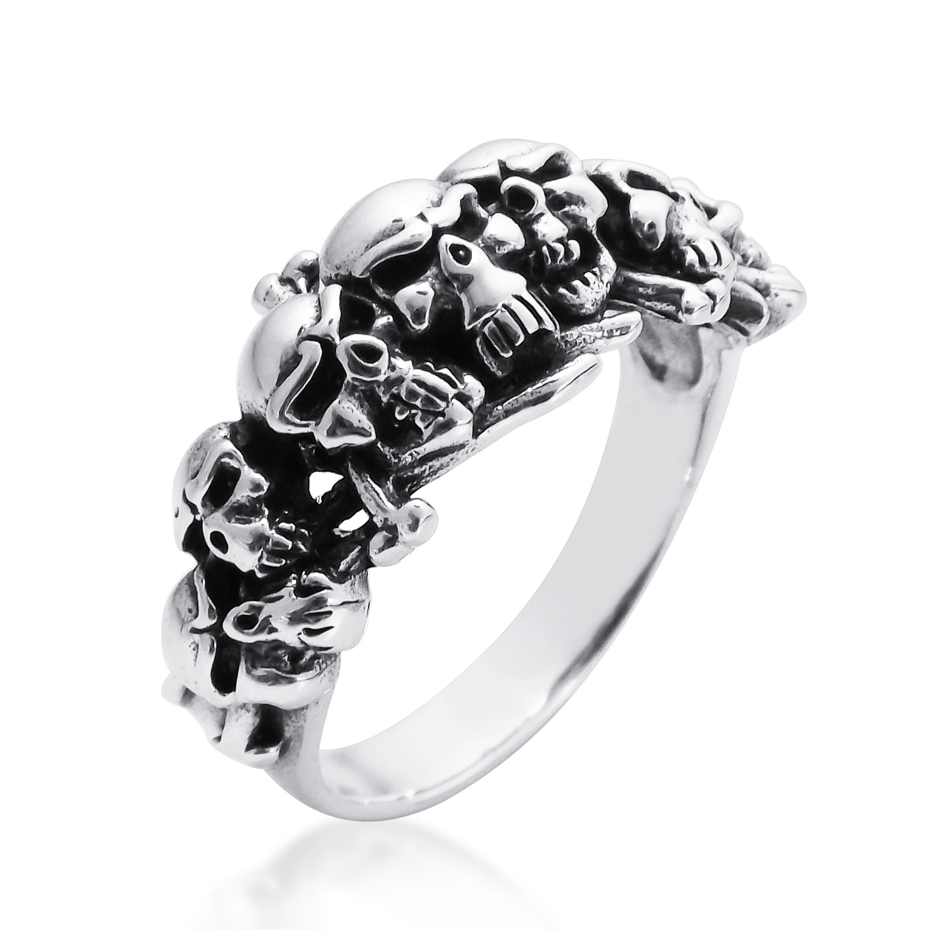 Ominous Pirate Skull and Crossbones .925 Sterling Silver ...
