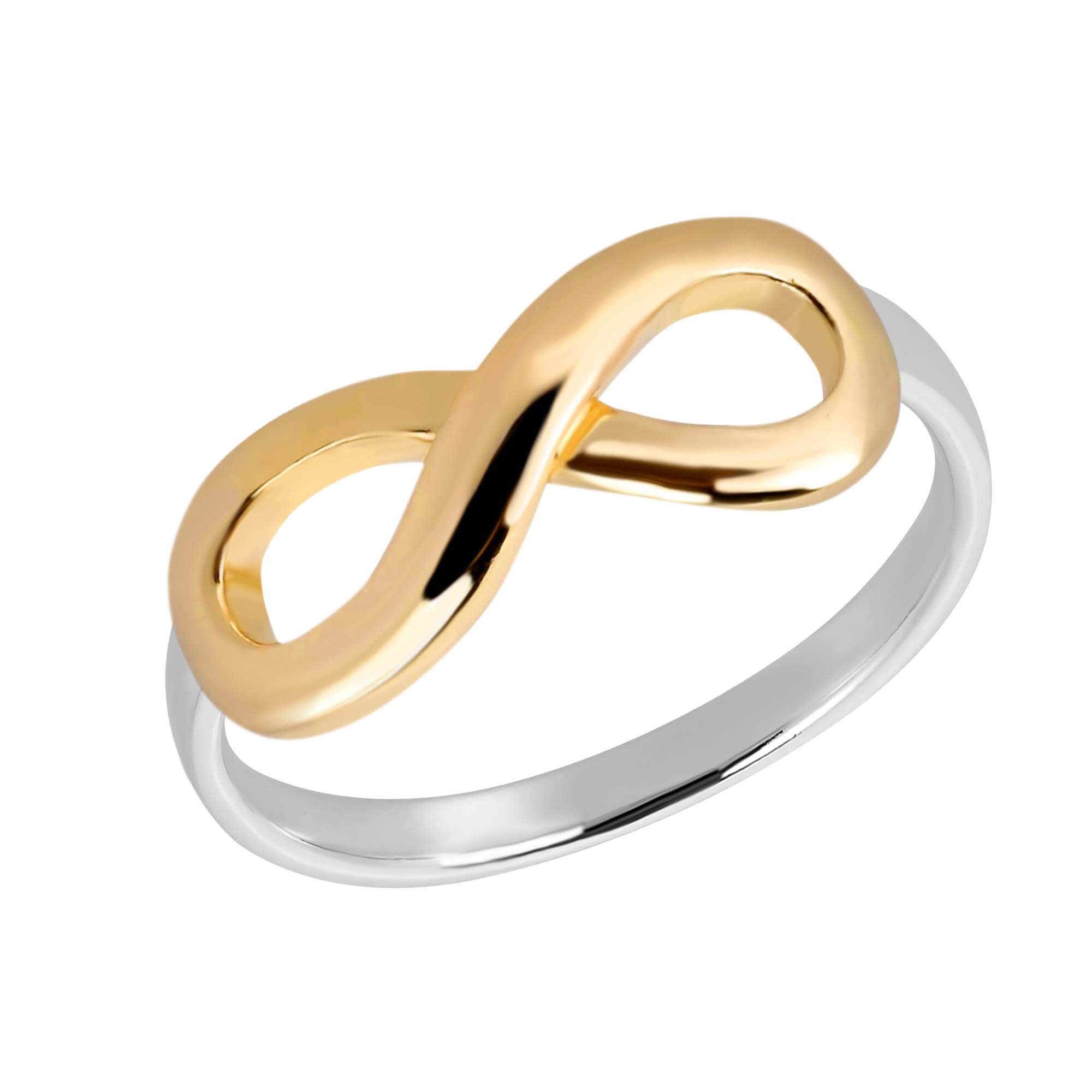 Two tone endless love infinity gold vermeil over sterling silver the infinity symbol is an ancient symbol which represents timelessness or eternity artisan katsaya from thailand handcrafted this eye catching sterling buycottarizona Choice Image