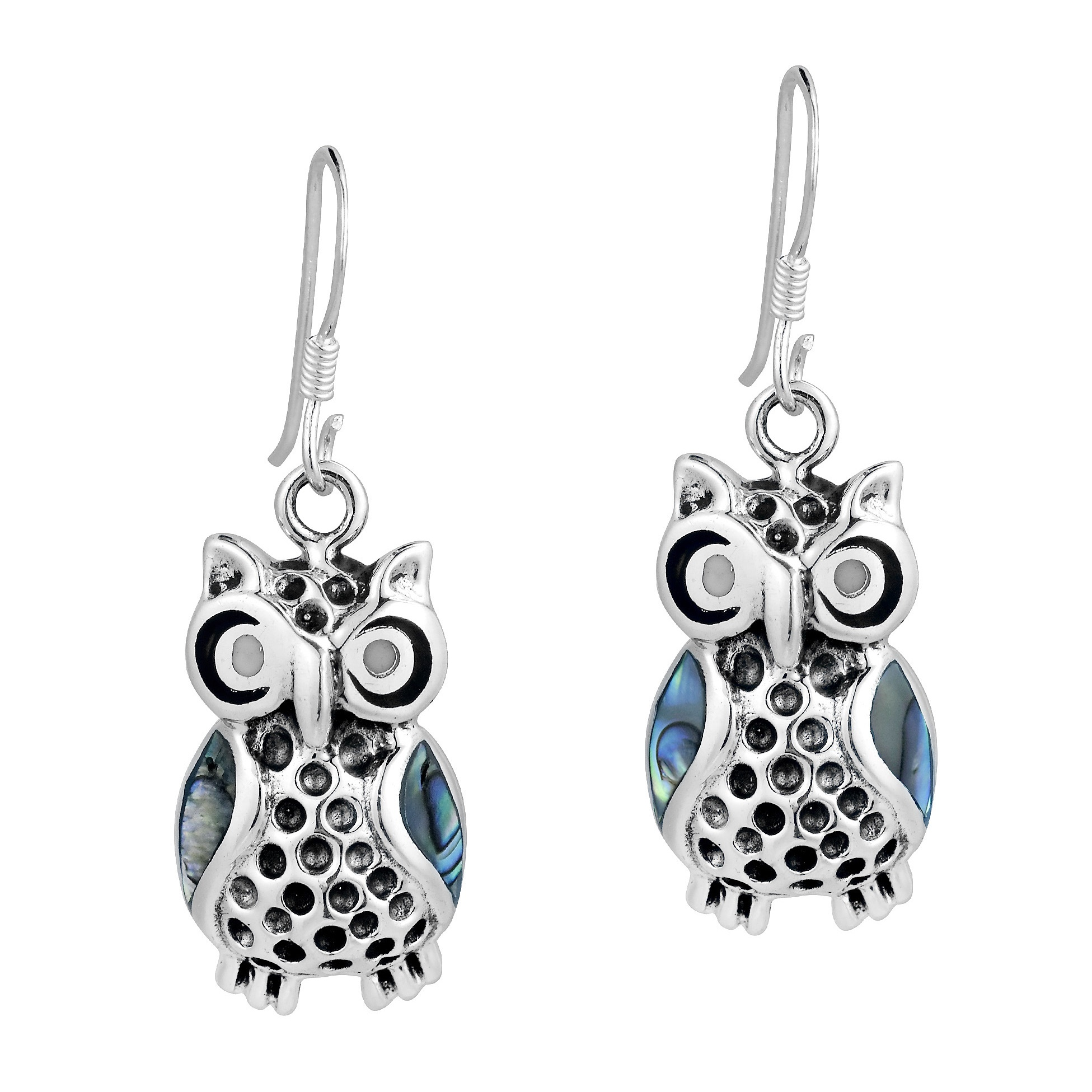 3958ea71d Crafted with sterling silver by Thai artisans, these earrings feature  inlaid accents of enamel or abalone ...