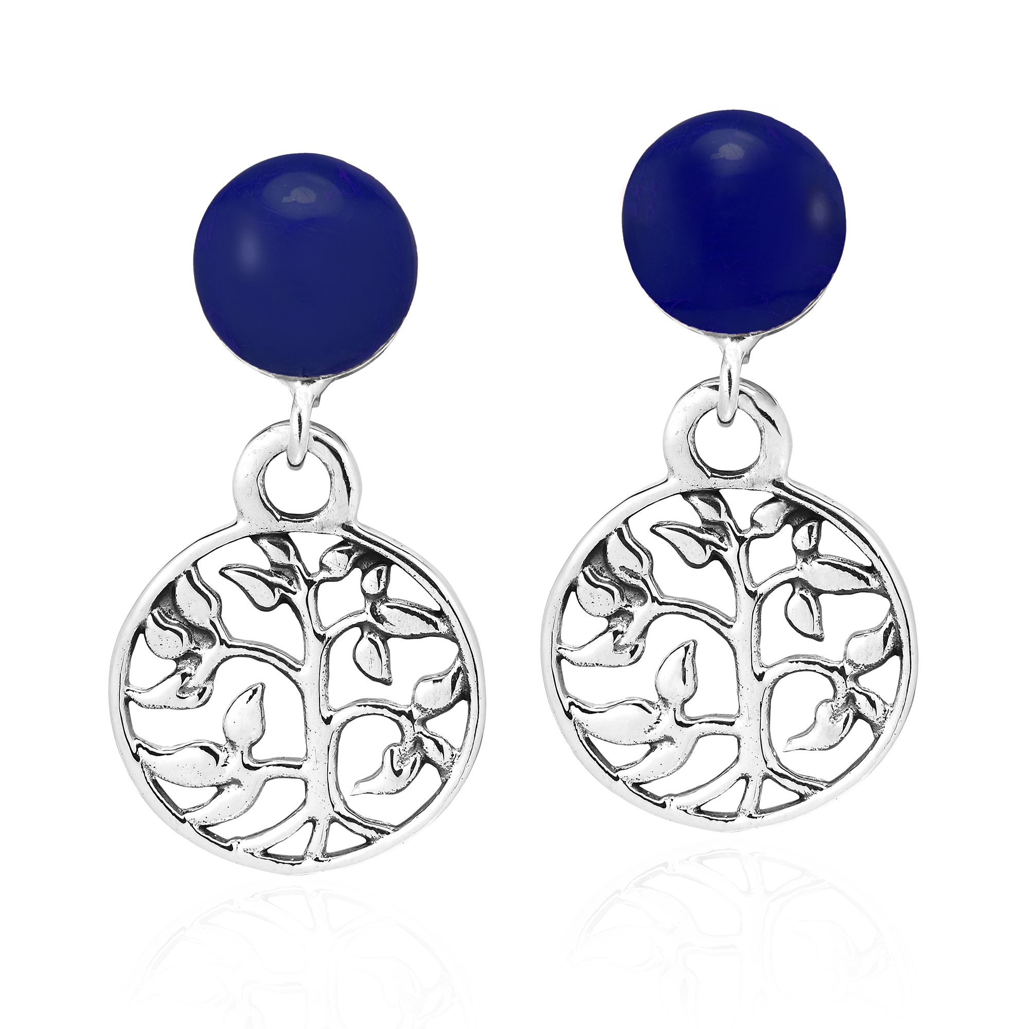 5c6efdefe Sterling silver is crafted into these beautifully intricate tree of life  earrings by the talented Thai artisan Goong. His inspiration for this piece  is the ...