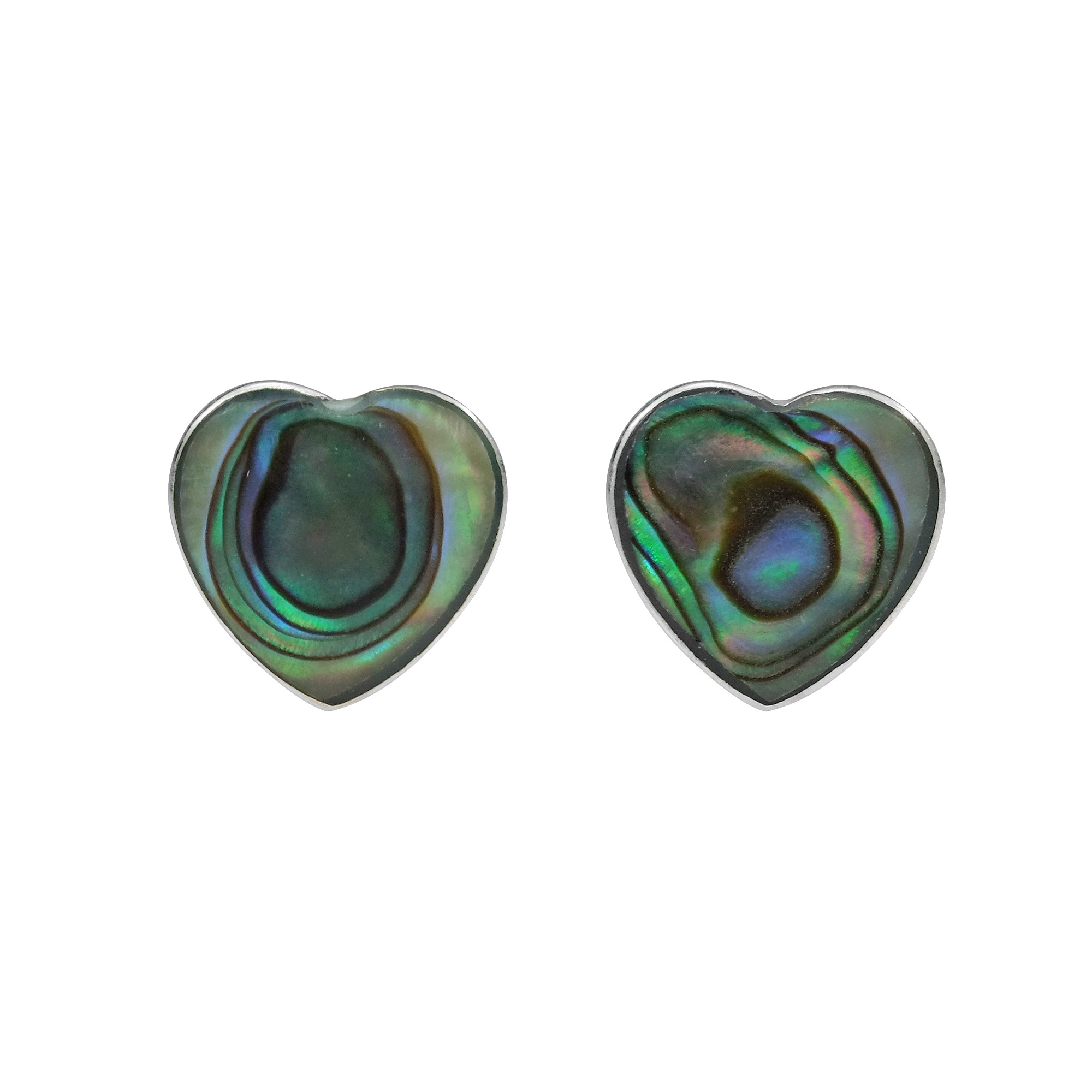 semi plain silver abalone earrings ireland precious shell hanging jewellery stud