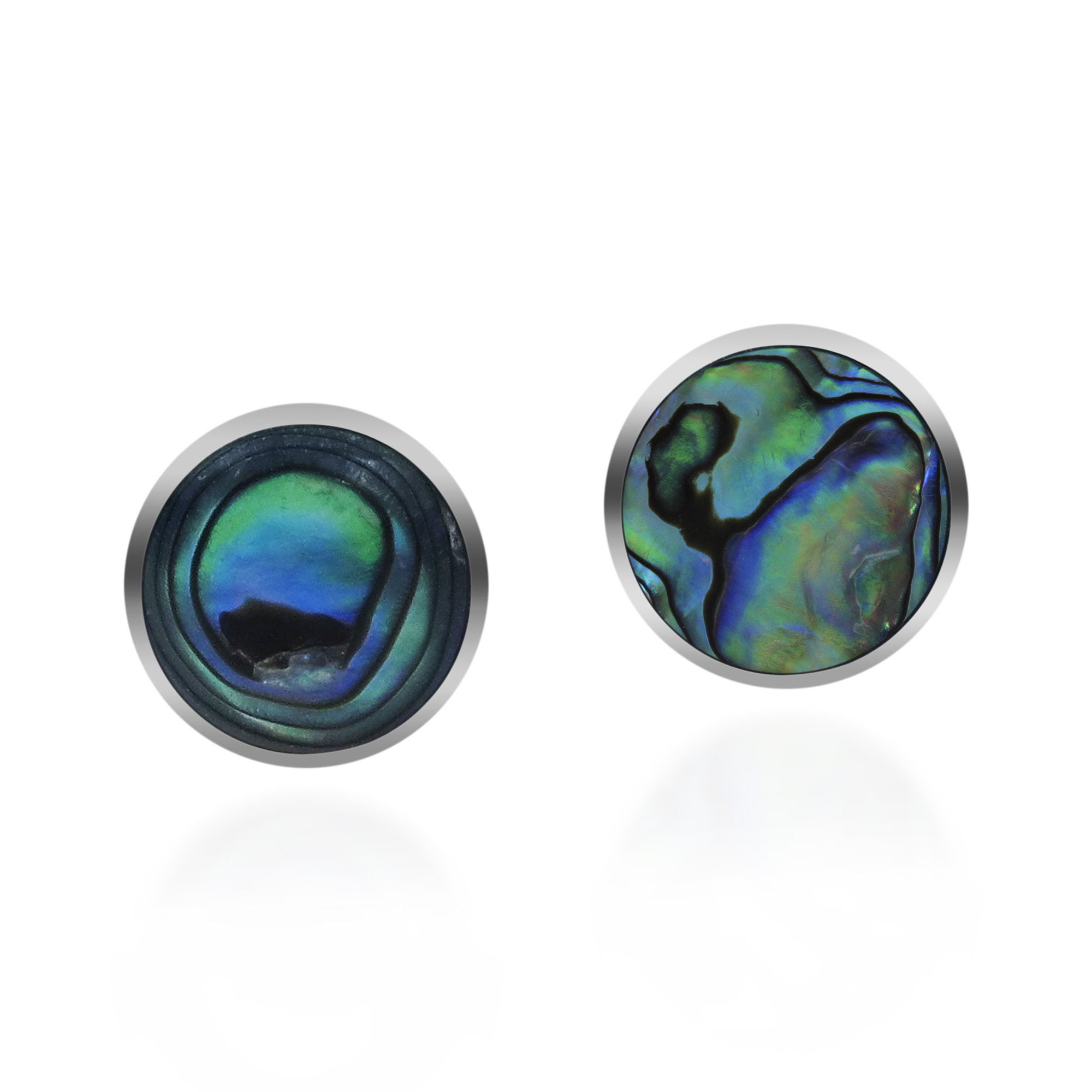 abalone products on stone classic silver clip se earrings botton stud details sterling aba round product