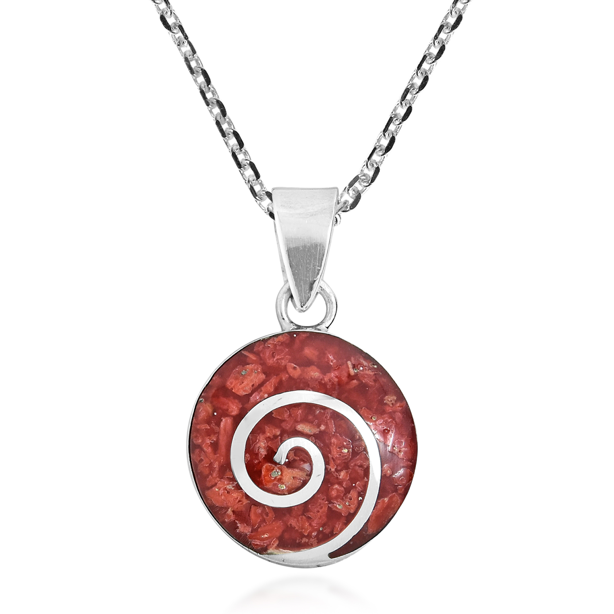 crystalspiral crystal spiral pendant necklace polished