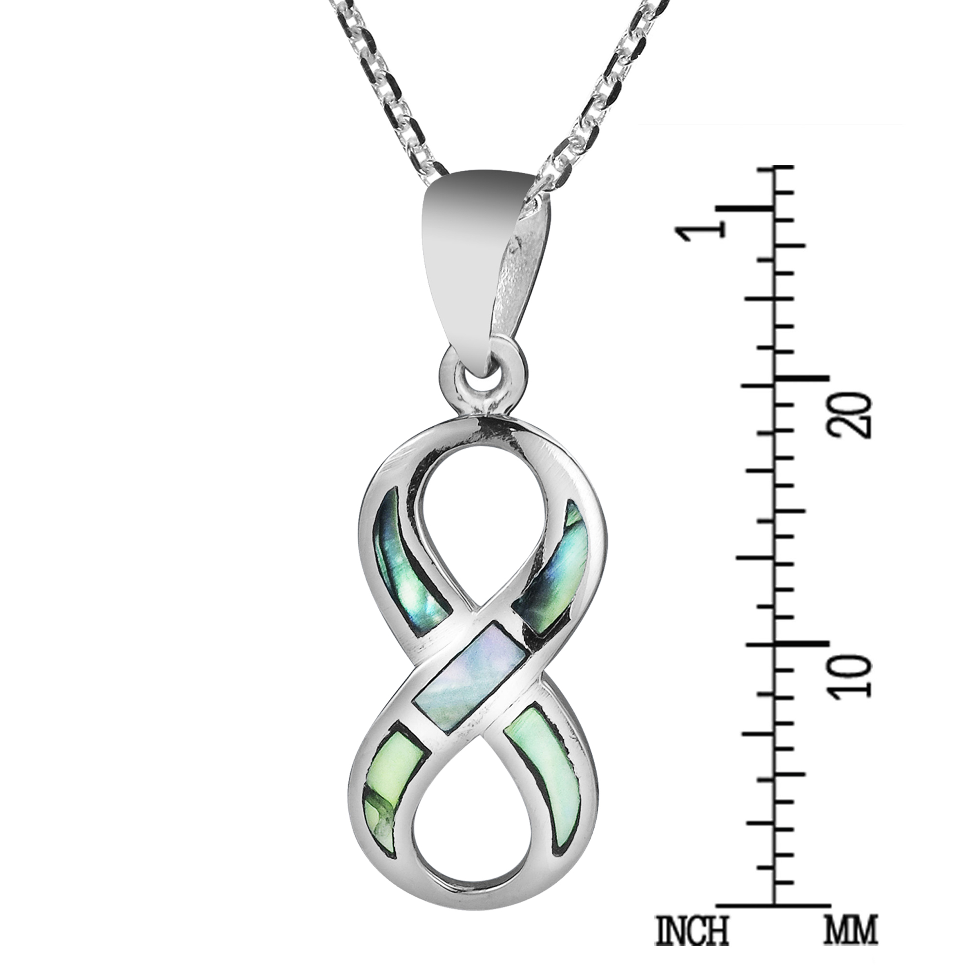 Love Forever Infinity Symbol Abalone 925 Silver Necklace Aeravida