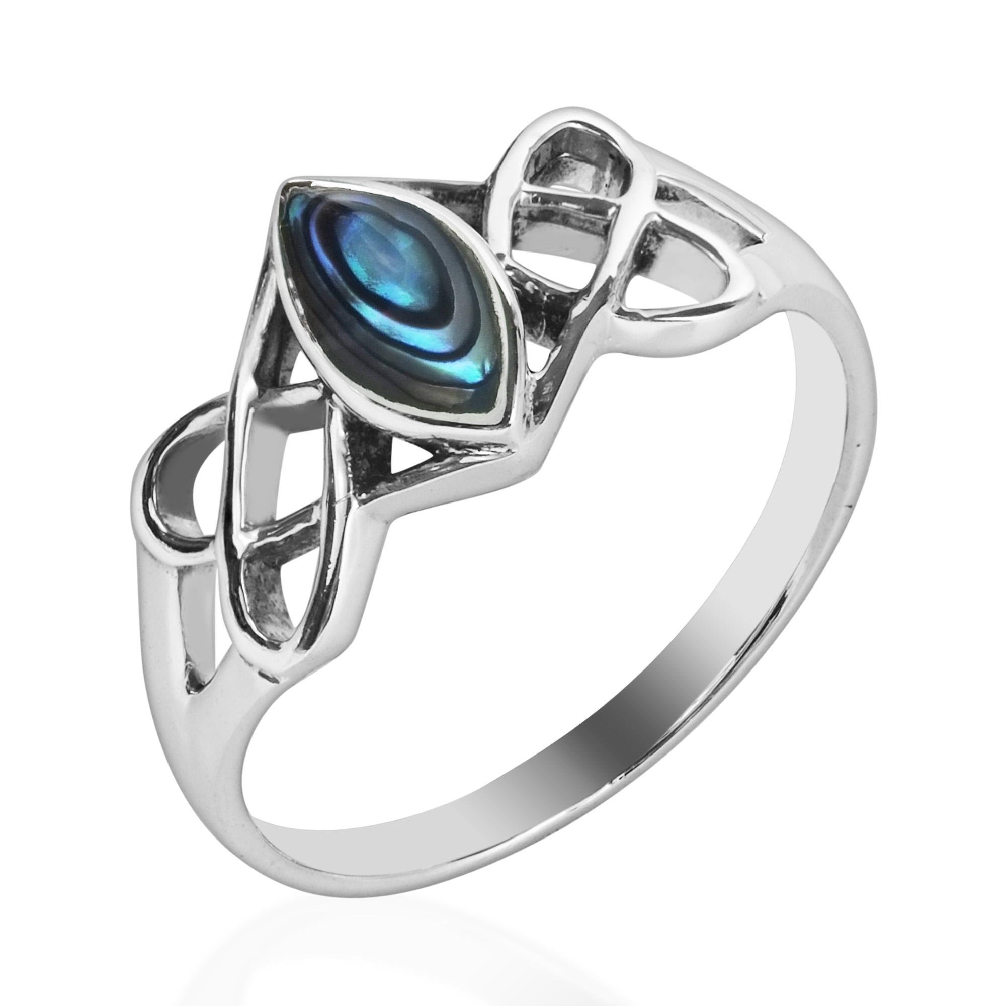 rings crown ring silver auld engagement jewelry abalone products teardrop melanie