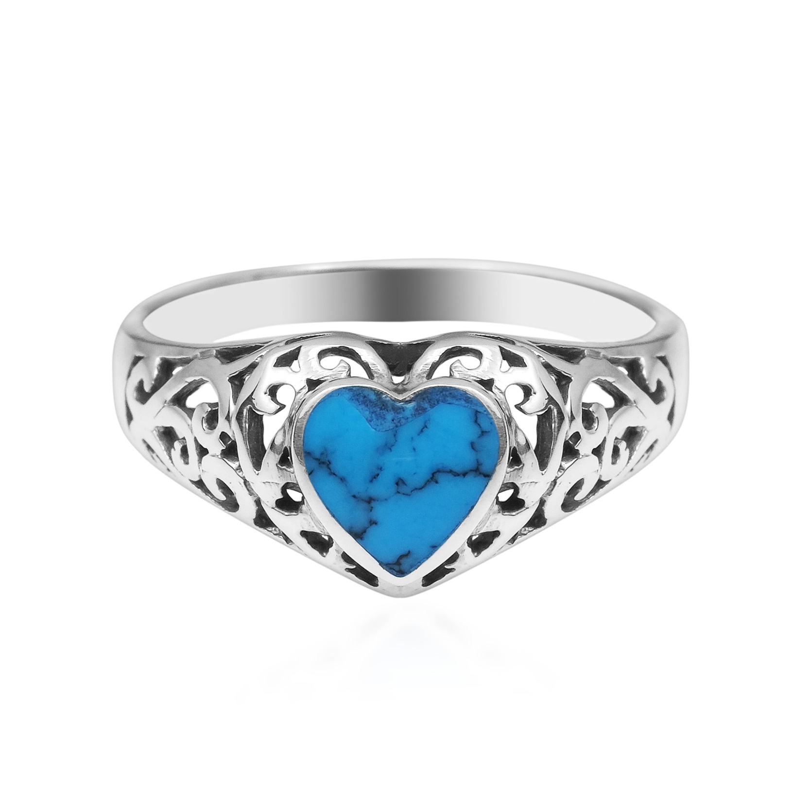 true devotion turquoise sterling silver ring 7