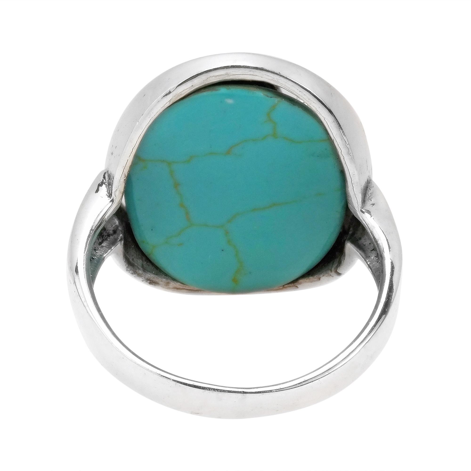 aum om prayer symbol green turquoise 925 silver ring 6