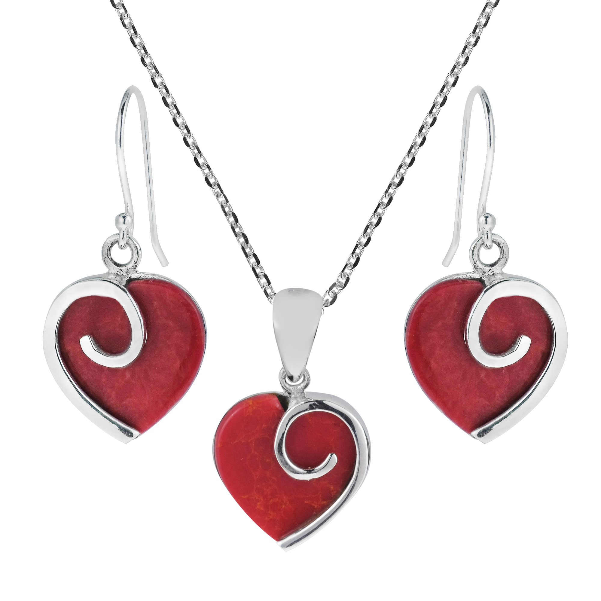 charm enamel necklace red vintage toby ring sterling box silver paste heart products pendant