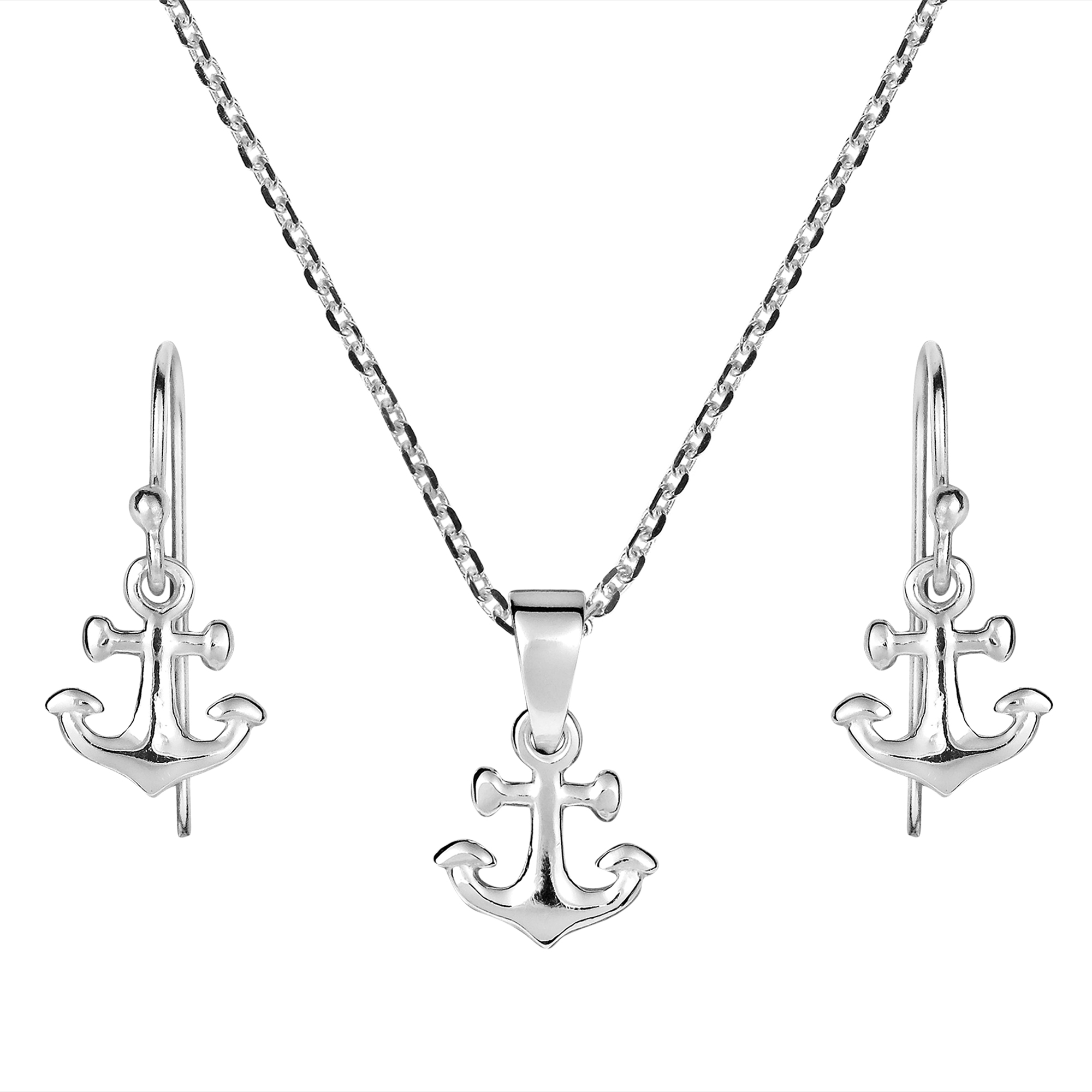mens anchor s silver necklace him original necklaces jewelry gift product men for