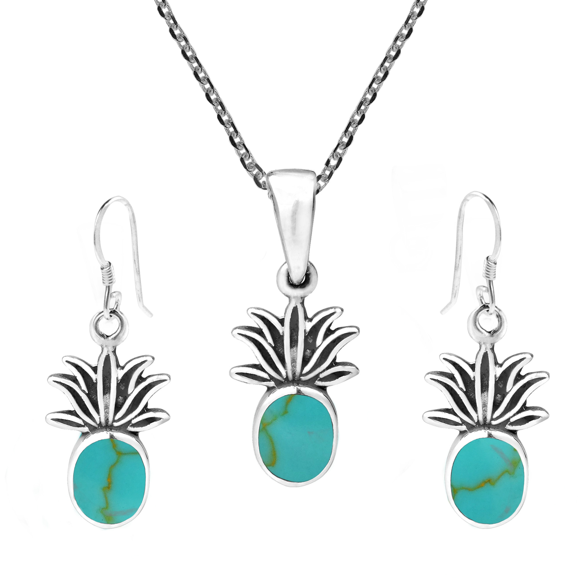 Silver And Natural Stone Combine In Tropical Decadence This Earring Necklace Set Designed Handmade By Thailand S Goong